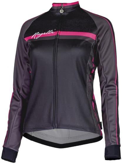 Dámský cyklodres Rogelli MANICA ROSA s dlouhým rukávem, černo-růžový