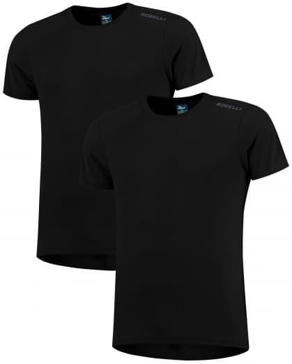 Funkční trička Rogelli PROMOTION - 2 ks různé velikosti, černá