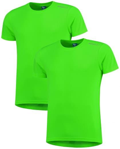 Funkční trička Rogelli PROMOTION - 2 ks různé velikosti, reflexní zelená