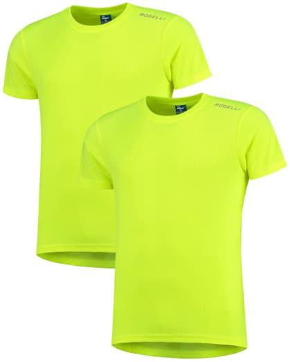 Funkční trička Rogelli PROMOTION - 2 ks různé velikosti, reflexní žlutá
