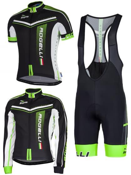 Letní cyklistické oblečení Rogelli GARA MOSTRO, zelené