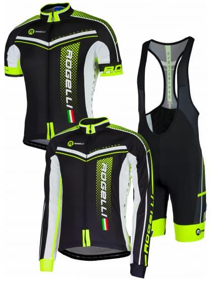 Letní cyklistické oblečení Rogelli GARA MOSTRO, reflexní žluté