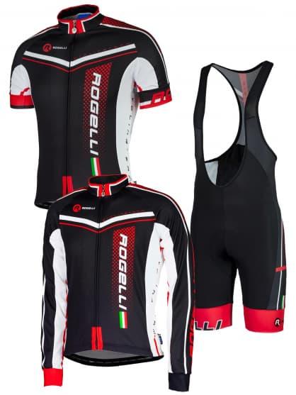 Letní cyklistické oblečení Rogelli GARA MOSTRO, černé