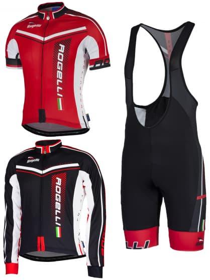 Letní cyklistické oblečení Rogelli GARA MOSTRO, červené