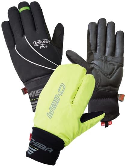 Zimní rukavice s integrovanou pláštěnkou Chiba EXPRESS +, černé