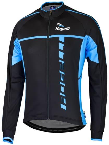 Cyklistický dres Rogelli UMBRIA 2.0 s dlouhým rukávem, černo-modrý
