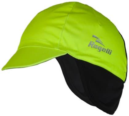 Softshellová čepice pod helmu Rogelli PROTTETIVO, reflexní žlutá