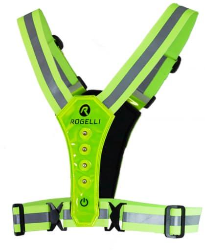 Bezpečnostní vesta s LED diodami Rogelli, reflexní žlutá