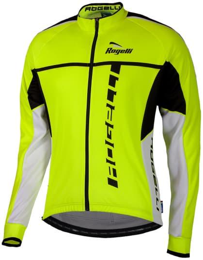 Cyklistický dres Rogelli UMBRIA 2.0 s dlouhým rukávem, reflexní žlutý-černý
