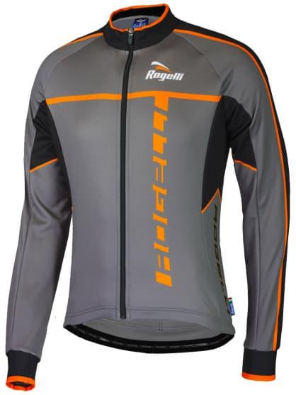 Cyklistický dres Rogelli UMBRIA 2.0 s dlouhým rukávem, šedo-oranžový