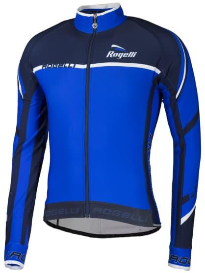 Cyklistický dres Rogelli ANDRANO 2.0 s dlouhým rukávem, modro-bílý