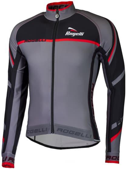 Cyklistický dres Rogelli ANDRANO 2.0 s dlouhým rukávem, šedo-červený