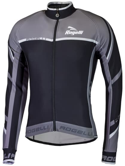 Cyklistický dres Rogelli ANDRANO 2.0 s dlouhým rukávem, černo-šedý