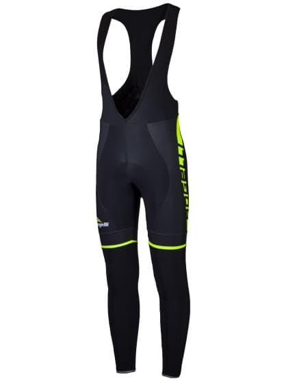 Cyklistické kalhoty Rogelli UMBRIA 2.0 s gelovou cyklovýstelkou, černo-reflexní žluté