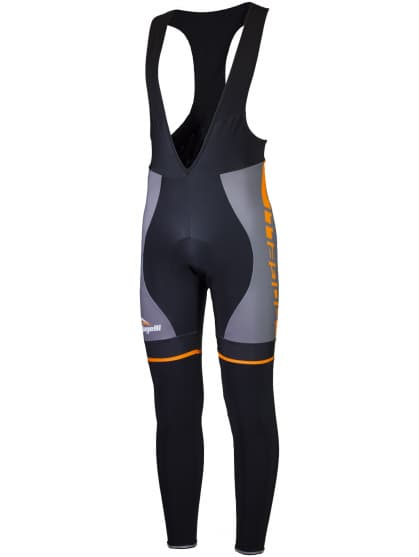 Cyklistické kalhoty Rogelli UMBRIA 2.0 s gelovou cyklovýstelkou, šedo-oranžové