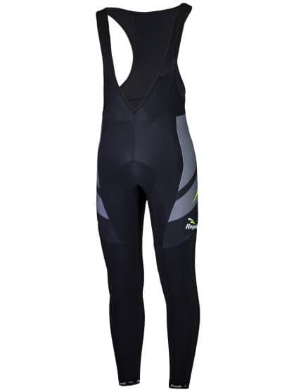 Cyklistické kalhoty Rogelli ANDRANO 2.0 s gelovou cyklovýstelkou, černo-reflexní žluté
