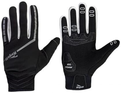 Slabé zimní membránové rukavice s gelovým polstrováním dlaně Rogelli INVERNO, černé