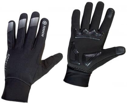 Středně hřejivé zimní membránové rukavice s polstrováním dlaně Rogelli TOCCA, černé