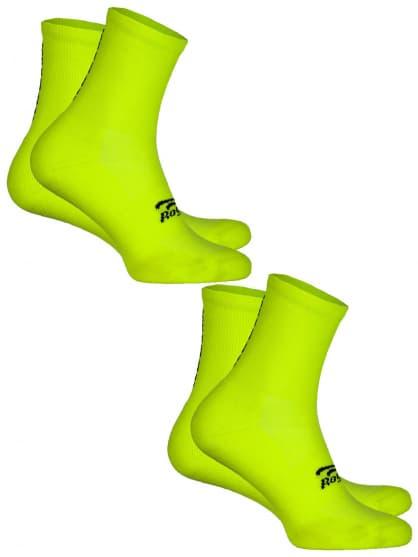 Funkční ponožky Rogelli COOLMAX EVERYDAY - 2 páry, reflexní žluté