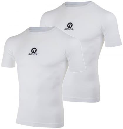 Funkční termo trička Rogelli CORE s krátkým rukávem - 2 kusy v balení, bílá