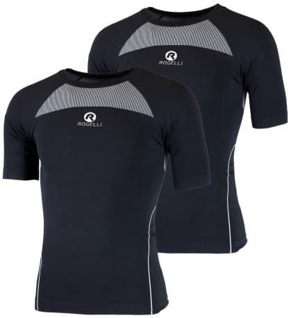 Funkční termo trička Rogelli CORE s krátkým rukávem - 2 kusy v balení, černá