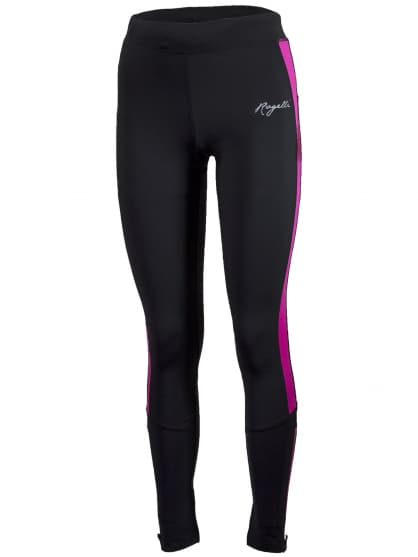 Dámské běžecké kalhoty Rogelli VISION 2.0 s jemným zateplením, černo-reflexní růžové