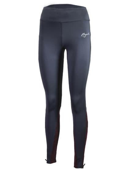 Dámské běžecké kalhoty Rogelli ELEGANCE s jemným zateplením, šedo-vínové