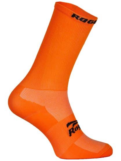 Antibakteriální celobarevné ponožky s mírnou kompresí Rogelli Q-SKIN, oranžové
