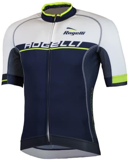 Extraprodyšný cyklistický dres Rogelli COMBATTIVO s krátkým rukávem, modro-bílý