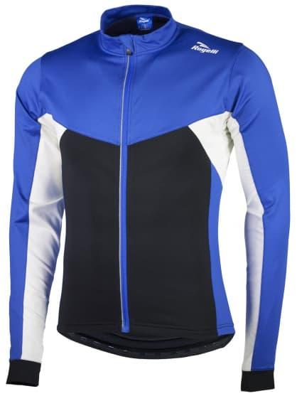Hřejivý dětský cyklistický dres Rogelli RECCO 2.0 s dlouhým rukávem, modrý