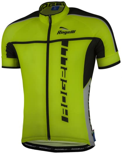 Ultralehký cyklistický dres Rogelli UMBRIA 2.0 s krátkým rukávem, reflexní žlutý