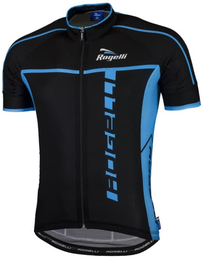 Ultralehký cyklistický dres Rogelli UMBRIA 2.0 s krátkým rukávem, černo-modrý