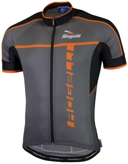 Ultralehký cyklistický dres Rogelli UMBRIA 2.0 s krátkým rukávem, šedo-oranžový