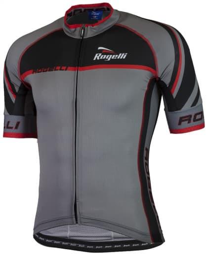 Ultralehký cyklodres Rogelli ANDRANO 2.0 s krátkým rukávem, šedo-červený