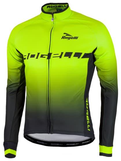 Hřejivý cyklistický dres Rogelli ISPIRATO s dlouhým rukávem, reflexní zelený