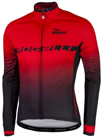 Hřejivý cyklistický dres Rogelli ISPIRATO s dlouhým rukávem, červený