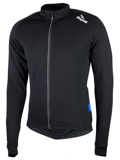 CALUSO 2.0, cyklistický dres dl. rukáv, černá