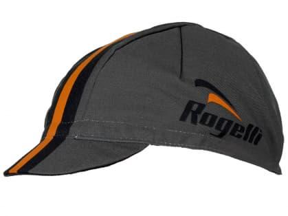 Sportovní kšiltovka Rogelli RETRO, šedo-oranžová