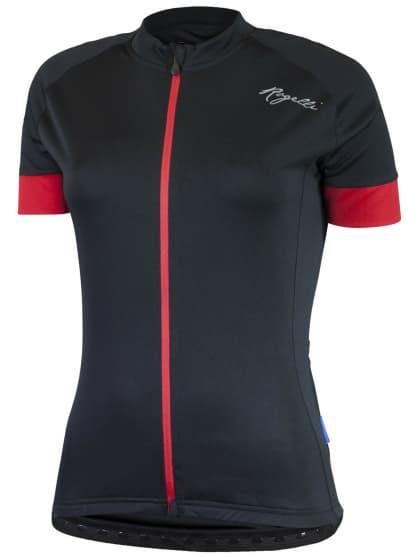 Dámský cyklistický dres Rogelli MODESTA s krátkým rukávem, černo-červený