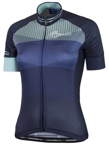 Ultralehký dámský cyklodres Rogelli STELLE s krátkým rukávem, modrý