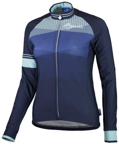 Hřejivý dámský cyklodres Rogelli STELLE s dlouhým rukávem, modrý
