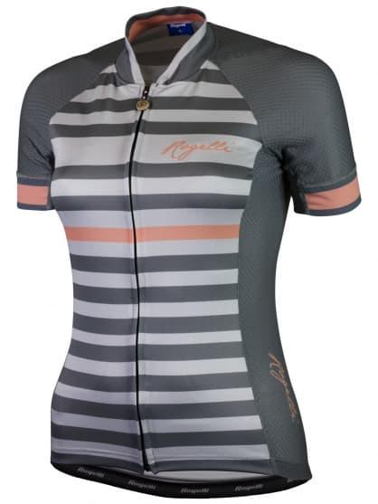 Letní dámský cyklistický dres Rogelli ISPIRA s krátkým rukávem, šedo-korálový