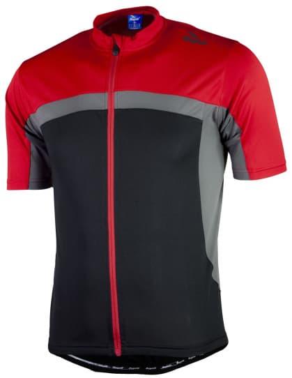 Cyklistický dres Rogelli MANTUA 2.0 s krátkým rukávem, černo-červený