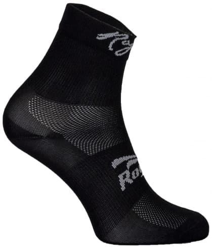 Dámské antibakteriální funkční ponožky Rogelli Q-SKIN s bezešvou patou, černé