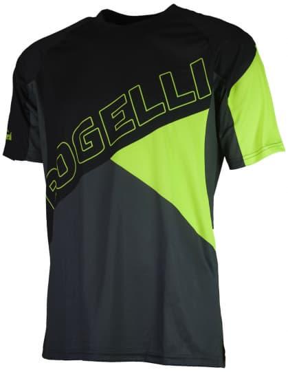 Volný cyklistický MTB dres Rogelli ADVENTURE s krátkým rukávem a bez kapes, černo-reflexní žlutý
