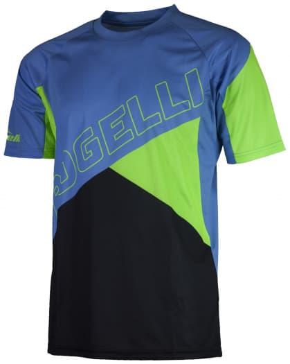 ADVENTURE, cyklistický MTB dres kr. rukáv, modrá-zelená